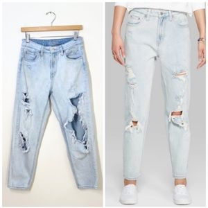 WILD FABLE | high rise distressed mom jeans